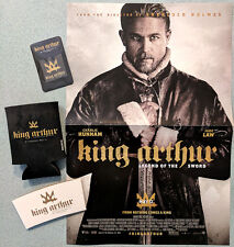 KING ARTHUR LEGEND OF THE SWORD promo items Poster Koozi Phone Cleaner Hunnam