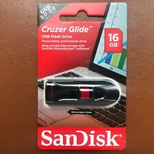 NEW SanDisk 16GB CRUZER GLIDE USB 2.0 / 3.0 Flash Drive High Speed Memory Stick
