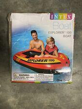 Intex Explorer 100 Inflatable 1 Person Raft Boat Pool Lake Damaged Box