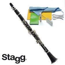 Stagg Nickel-plated Lightweight Bb Clarinet + Soft Case, Cleaning Kit, WS-CL110