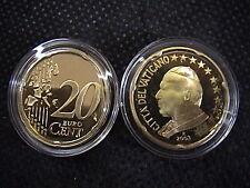VATICANO 2003 n° 1 moneta da CENT 20 EUROCENT FONDO A SPECCHIO PROOF FS PP BE