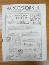 Woodworker Magazine MAY 1948 Vintage Old Plans Garden Windmill Hall Stand