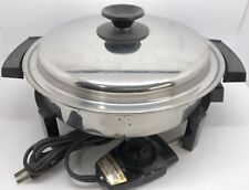 West Bend LIFETIME 27906 Stainless Steel 900W Electric Skillet -- READ! (RF916)