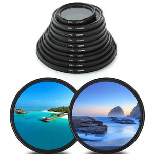 CPL Filter Polarizing Camera Lens For Canon Nikon Sony