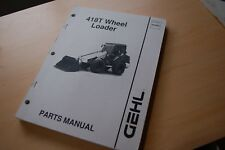 Gehl 418t Front End Wheel Loader Parts Catalog Manual Mini Rubber Tire Pay List