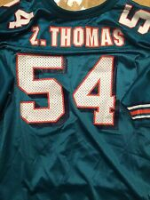 Zack Thomas Miami Dolphins VINTAGE Wilson NFL Jersey YOUTH XL USA