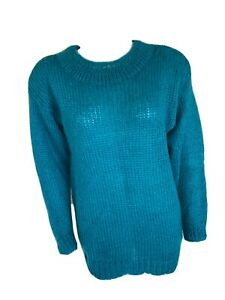Rafaella Blue Mohair Wool Knit Womens Sweater Size Small