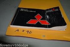 1999 99 MITSUBISHI MIRAGE OWNERS MANUAL BOOK GUIDE A596