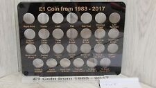 £1named coin hunt display album rare royal mint case wallet full 24 designs