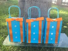 Blippi inspired party theme paper bags with handles