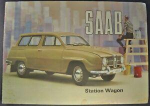 1965 Saab Station Wagon Catalog Sales Brochure Nice Original 65