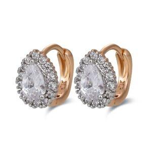 18 k Gold Plated luxury baby earrings for small girls hoops teardrop huggies