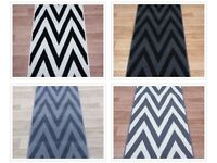 Hall / Stairs Zigzag Carpet Runner Any Size x 60cm 4 Colours Carpet Runner