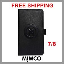 MIMCO Supernatural iPhone 7 8 case Black leather wallet cover flip Genuine DF