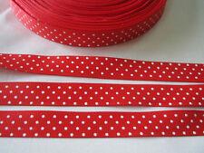Red 3yds 5/8(15 mm)Christmas Ribbon Printed lovely Dots Grosgrain