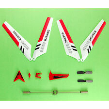 US Main Blades Full Spart Parts Set of 4 for Syma S107/S107G RC Helicopter Red