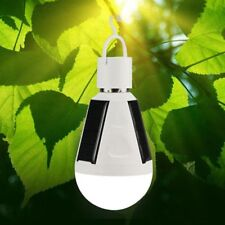 LED Solar Light Bulb 7W E27 Tent Camping Solar Powered Lamp Rechargeable FT