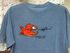 New listing Pirana Joe Surf Shop Soft Blue Short Sleeve T Shirt Mens M Womens L Large EUC LN