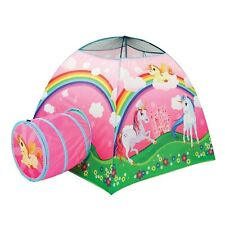 Etna Children's Unicorn Play Tent, Cute Animal Pop-up Playhouse with Tunnel