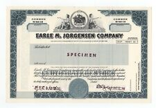 SPECIMEN - Earle M. Jorgensen Company Stock Certificate