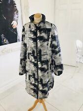 Desigual designer black & blue reversible coat size 46