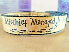 Harry Potter Mischief Managed Dog Collar