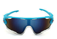 Sports Glasses Cycling Goggles Bike Motorcycle Bicycle Sunglasses UV Protection Blue