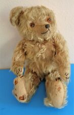 ANTIQUE 14'' MUSICAL BEIGE MOHAIR BEAR NEED TLC