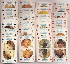 1975 KOJAK MONTY GUM 52 POKER TRADING CARDS SET NM/MT