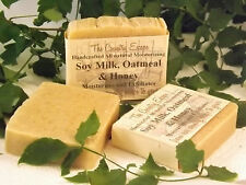 Soy Milk Oatmeal & Honey Soap- Handcrafted - Organic - Vegan - Natural