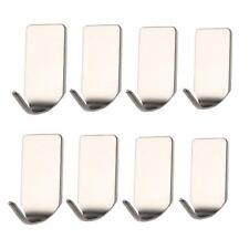 Self Adhesive Bathroom Wall Door Stainless Steel Holder Hook Hanger Hooks
