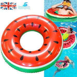 Watermelon Swimming Ring Inflatable Float Seat Kids Fun Water Pool Swim Aid Toys
