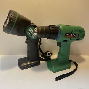 Hitachi Cordless Drill Driver DS14DVF & UB18D Work Light(Bare Tools Only)