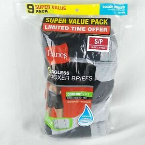 Hanes Boxer Briefs 9-Pack Mens Assorted Colors Tagless Comfort Flex Waistband