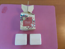 Bronnley Soap Spiced Apple & Cinnamon Unused England Set of Two For Pet Rescue