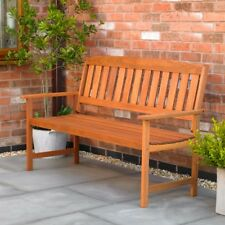 3 SEATER HARDWOOD GARDEN BENCH OUTDOOR PATIO WOOD FURNITURE WEATHER TREATED