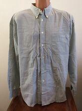 Gap Mens Size XL Green Plaid Long Sleeve Button Down Front Cotton Shirt Nice