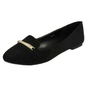 Spot On Ladies Loafer Shoes