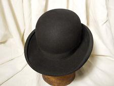 Vintage Young Brothers Bowler Fedora Men's Hat Black Size 6 7/8