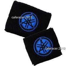 YAMAHA BRAKE/CLUTCH RESERVOIR SOCKS FLUID TANK CUP COVER SET  R1 R6 BLACK & BLUE