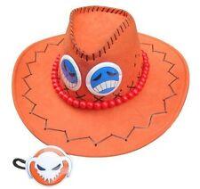 One Piece Port Gas D Ace Fire Fist Ace Hat Orange Costume