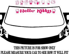 HELLO KITTY CAR WINDSHIELD, DECAL, GRAPHIC, VINYL, BANNER, VISOR, LOGO, STRIPE