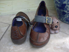 CLARKS UNSTRUCTURED BROWN TEAL LEATHER SHOES CLARKS COMFORT LIGHTWEIGHT SHOES 5