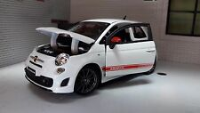 LGB G Scale 1:24 Fiat 500 Abarth SS Esseesse Burago Diecast Model Car Grey Alloy