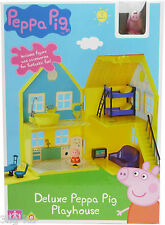 Peppa Pig Playhouse Toy Deluxe Playset With Figure and Accessories 18+ months