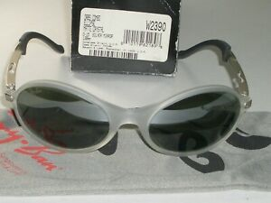 VINTAGE B&L RAY BAN W2390 G15 MIRROR ECLIPSE FROSTED GRAY ORBS WRAP SUNGLASSES