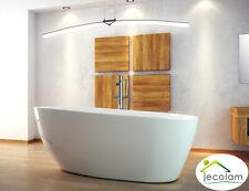 Freistehende Badewanne Wanne oval 160 x 70 cm Ablauf Click Clack Mineralguss