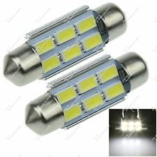 2X Festoon 36MM 6418 6 SMD 5630 LED Roof Dome Lamp Canbus Error Free Auto ZI126