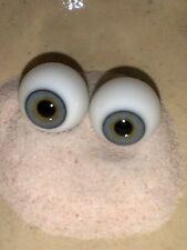 "Size 26mm doll eyes ""grey Hazel � Mouth blown Glass Doll Eyes Germany Quality"