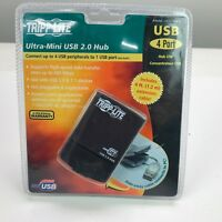 TRIPP-LITE Ultra-Mini 4 Port USB 2.0 Hub With 4-Ft Extension Cable NEW Fast Ship